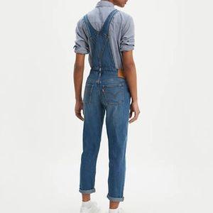 Levi's medium wash denim overalls